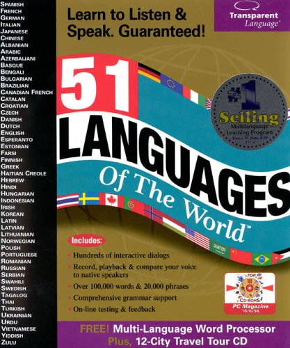 51 languages of the World box