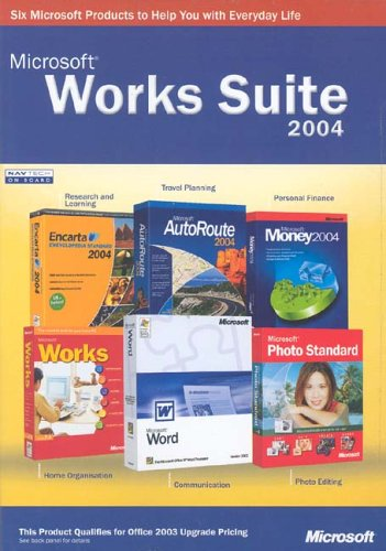 Works Suite with Money 2004 box