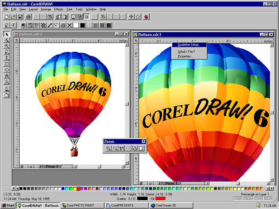 Corel Draw 6 graphics software BMSoftware.